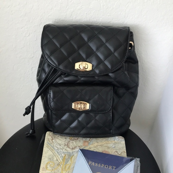 b35994b994c043 Forever 21 Handbags - Black Quilted Faux Leather Mini Backpack Travel